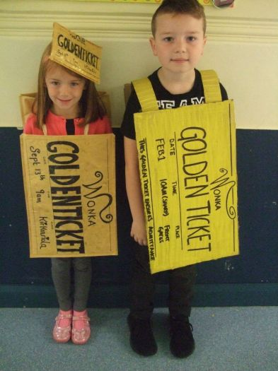Wow - we found two golden tickets in school today.